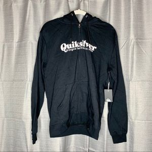 Quicksilver Zip-Up Hoodie Back size Small